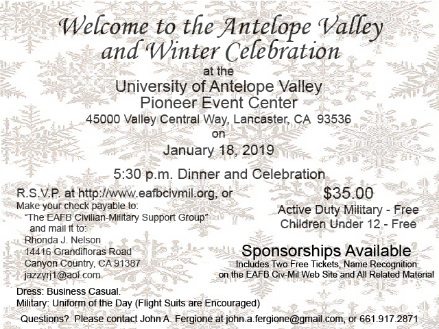 Welcome to the Antelope Valley Winter Celebration