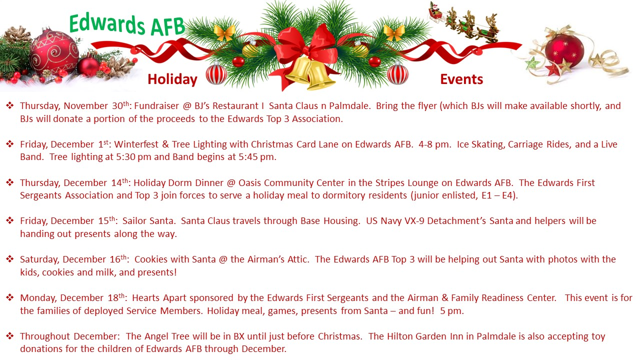 EAFB Holiday Events 2017